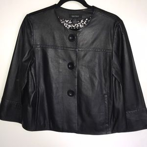 Karen Kane Cropped Leather Jacket